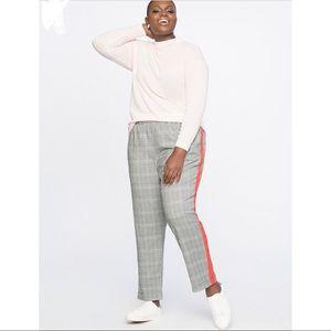 Eloquii NWT Plaid Pants with Stripe Sz 18